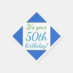 [ Thumbnail: Humble 50th Birthday Paper Napkins ]