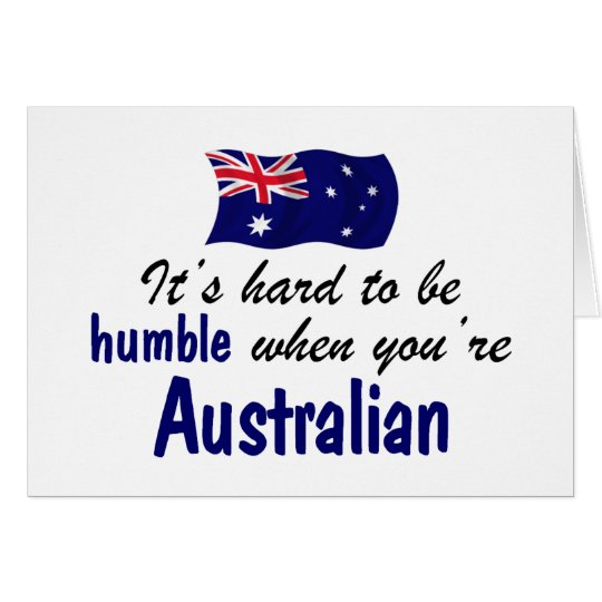 Humble Australian Card