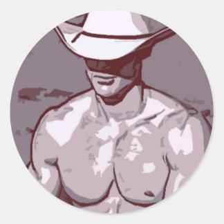 Humble Cowboy Classic Round Sticker