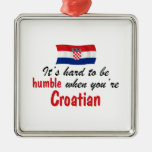 Humble Croatian Square Metal Christmas Ornament