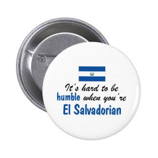 Humble El Salvadorian Button