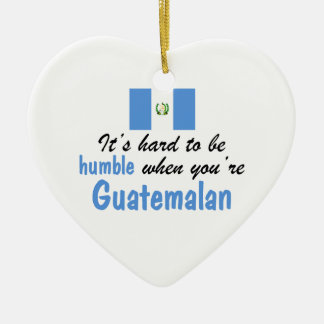 Humble Guatemalan Double-Sided Heart Ceramic Christmas Ornament