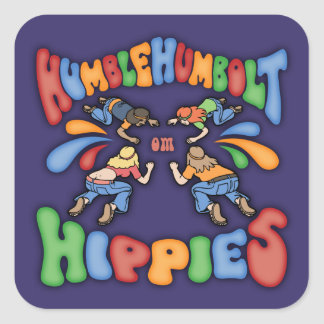 Humble Humbolt Hippies Square Sticker