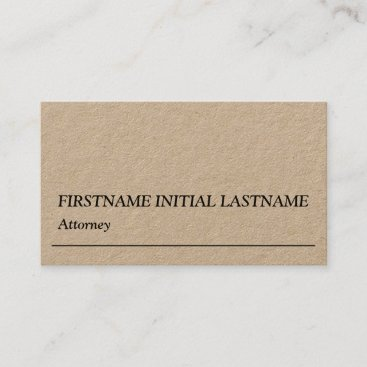 Humble Law Professional Business Card