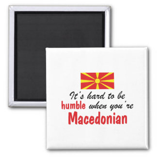 Humble Macedonian 2 Inch Square Magnet