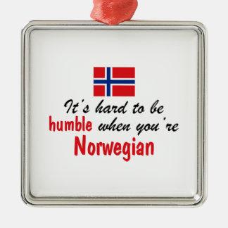 Humble Norwegian Metal Ornament