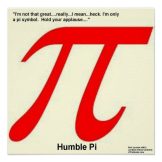 Humble Pi Are Square Funny Poster