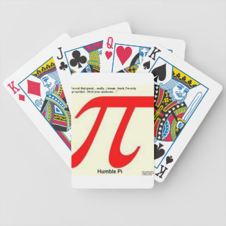 Humble Pi R Square Funny Bicycle Playing Cards