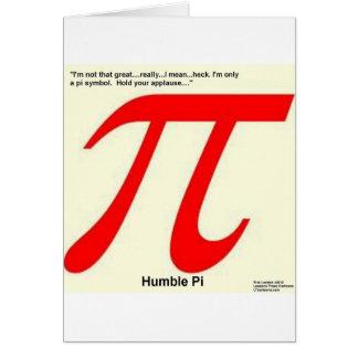 Humble Pi R Square Funny Card
