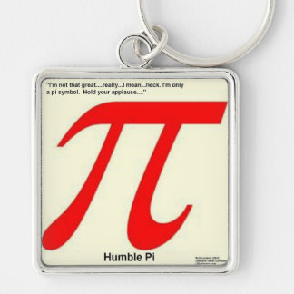 Humble Pi R Square Funny Keychain