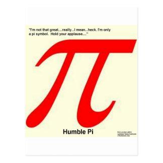 Humble Pi R Square Funny Postcards