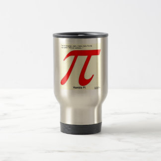 Humble Pi R Square Funny Travel Mug