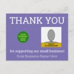 "[ Thumbnail: Humble Small Business ""Thank You"" Postcard ]"