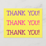 "[ Thumbnail: Humble ""Thank You!"" Postcard ]"