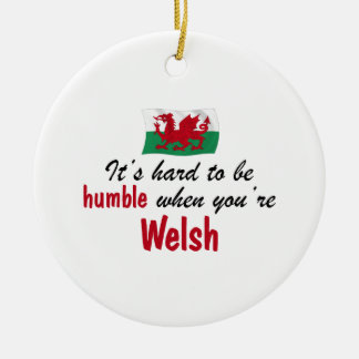 Humble Welsh Double-Sided Ceramic Round Christmas Ornament