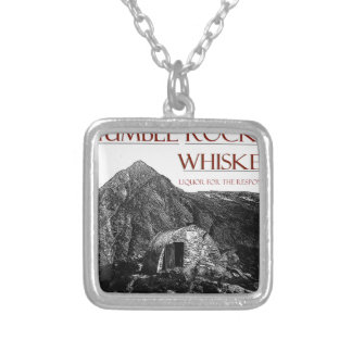 humble wiskey responsible silver plated necklace