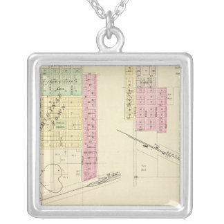 Humboldt and Dawson, Nebraska Silver Plated Necklace