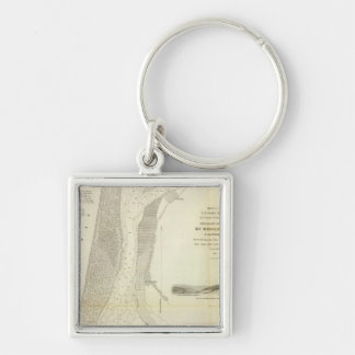 Humboldt Bay, Calif Silver-Colored Square Keychain