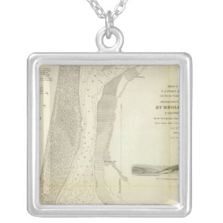 Humboldt Bay, Calif Square Pendant Necklace