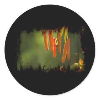 Humboldt Lily Stamens Round Sticker