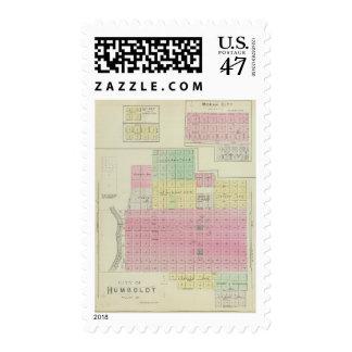 Humboldt, Moran City, and Laharp, Kansas Postage