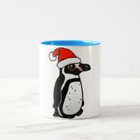 Humboldt Penguin Santa Two-Tone Mug
