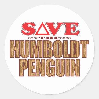 Humboldt Penguin Save Classic Round Sticker