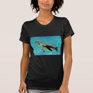 Humboldt penguin under water tee shirt