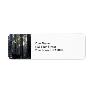 Humboldt Redwoods State Park Label