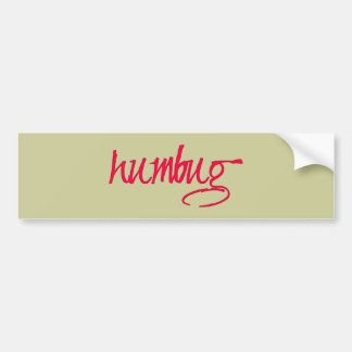 humbug bumper sticker