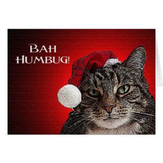 Humbug Kitty Christmas Greeting Card