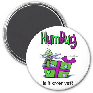 Humbug on the Holidays 3 Inch Round Magnet