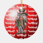 Humbug! Double-Sided Ceramic Round Christmas Ornament
