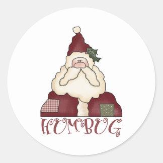 Humbug Santa Christmas Stickers