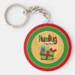 Humbug scrooge basic round button keychain