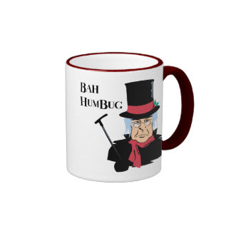 Humbug Scrooge Ringer Coffee Mug