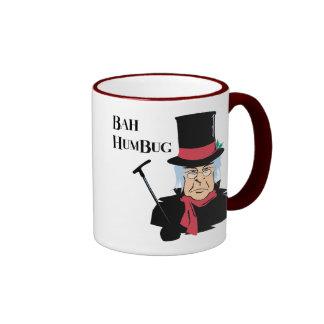 Humbug Scrooge Ringer Mug