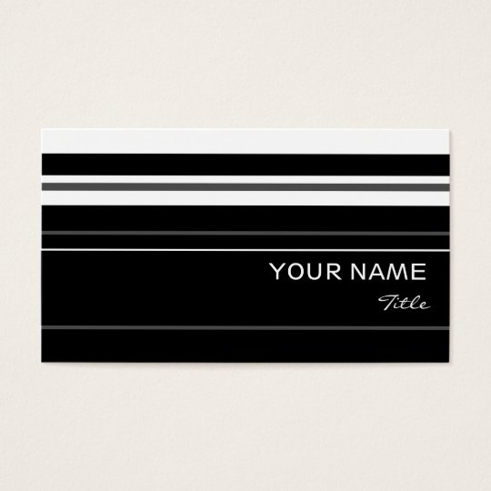 Humbug stripe business card template black
