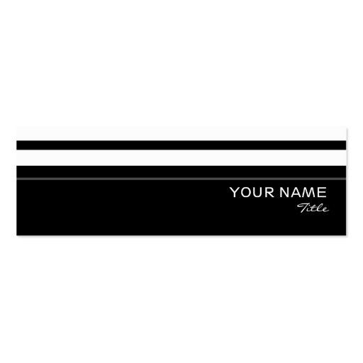 Humbug stripe business card template skinny