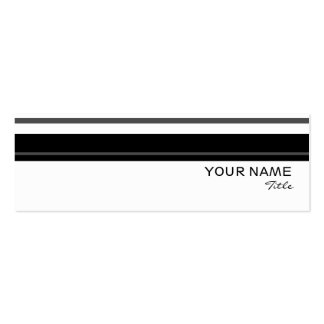 Humbug stripe business card template skinny white