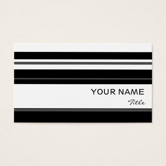 Humbug stripe business card template white