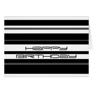 Humbug Stripe 'Happy Birthday' greetings card