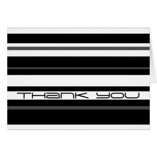 Humbug Stripe 'Thank You' card