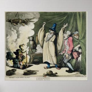 Humbugging o criar al diablo, 1800 póster