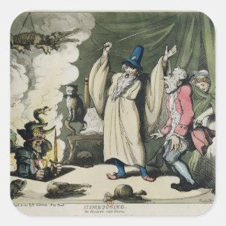 Humbugging or Raising the Devil, 1800 Square Sticker