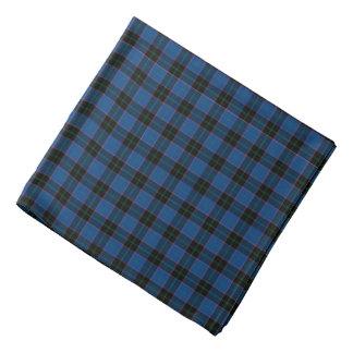 Hume Clan Tartan Royal Blue and Black Plaid Bandana