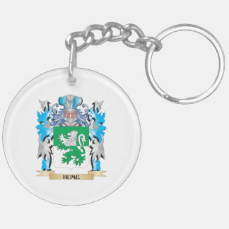 Hume Coat of Arms - Family Crest Double-Sided Round Acrylic Keychain