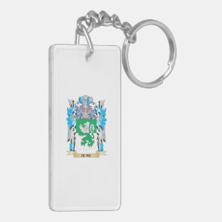 Hume Coat of Arms - Family Crest Double-Sided Rectangular Acrylic Keychain