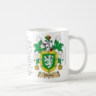 Hume, el origen, el significado y el escudo taza clásica