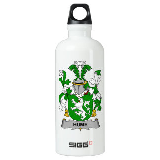 Hume Family Crest Aluminum Water Bottle